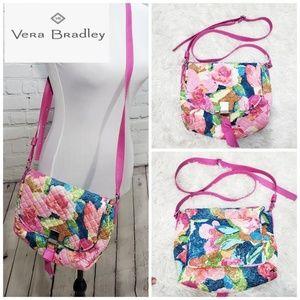 Vera bradley carson crossbody floral pink purse